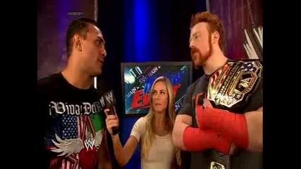 Alberto Del Rio казва на Sheamus, че той ще е претендента за Usa титлата - Wwe Main Event - 1/7/14