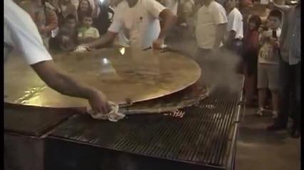 56 килограмова плескавица на Рощилиадата в Лесковац - 28.08.2014