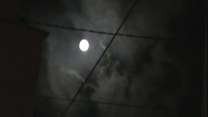 Луната скрита в облаците 25.09.2015г./21ч.15мин./