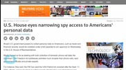 U.S. House Eyes Narrowing Spy Access to Americans' Personal Data