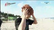 (exo showtime cut) Кай, Лухан и Сухо се къпят в морето ll Еп. 5