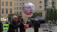 Germany: NGO slams G7's 'hot air' with these super-size balloons!