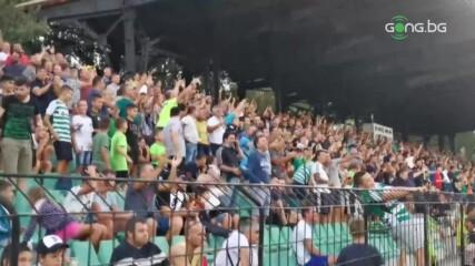 """Лудата радост на """"зелено-белите"""" фенове след гола на Курьор"""