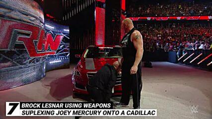 Brock Lesnar using weapons: WWE Top 10, Oct. 17, 2021
