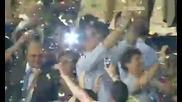 Шампионите Интер вдига купата 22.05.2010 Шампионска лига