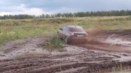 Audi A4 B6(1.8t quattro) тест в кал и вода от руснаци.