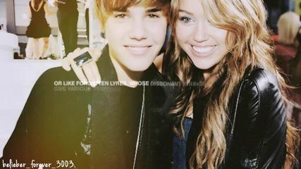 Ти си най-хубавото нещо,което някога е било мое! // Miley & Justin //