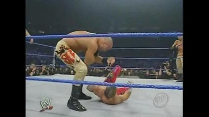 Рей Мистерио и Еди Гереро срещу Братята Башам : Разбиване 2-24-05