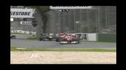 Битката между Уебър , Хамилтън , Алонсо и удърът на Уебър с Хамилтън - Формула 1 Австралия 2010
