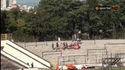 """Единадесет човека в сектора за гости на стадион """" Славия """""""