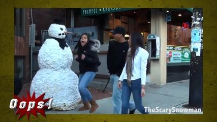 Снежният човек се развихри! Ти как ще реагираш?!