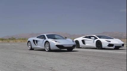 Head 2 Head - Bugatti Veyron, Lamborghini Aventador, Lexus Lfa, Mclaren Mp4-12c