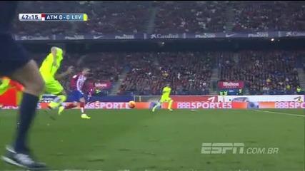 Атлетико ( Мадрид ) 1:0 Леванте 02.01.2016