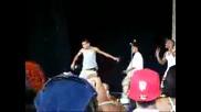 chris brown dances at kmel block party