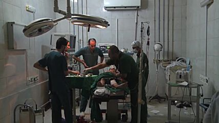 Syria: Hospital in govt-held area of Aleppo treats shelling victims *GRAPHIC*