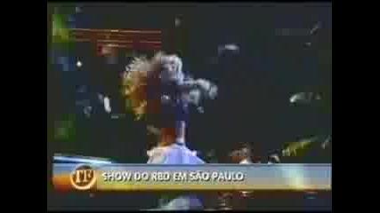 Reportagem pro Tvfama no dia do Show do Rbd