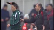 Червеният картон на Маркиньос в мача срещу Лудогорец