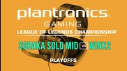 WinX2 vs Soraka Solo Mid - Plantronics LoL Championship Playoffs