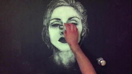 Мадона нарисувана със сол