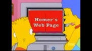 Семейство Симпсън - Хоумър И Компютър