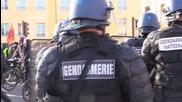 France: Anti-COP21 convoy arrive in Versailles from Saclay