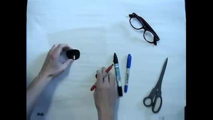 Ето как да си напраивим очила за 3d филми.