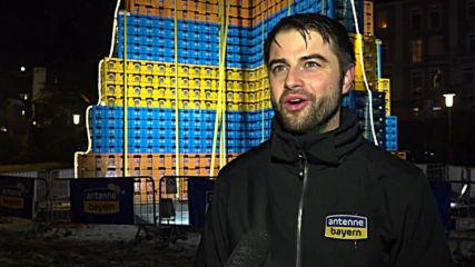 18-metre tall beer-crate Christmas tree breaks world record in Bavaria