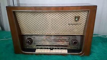 Тестови тон на радиопредавател на средни вълни по време на техническа профилактика