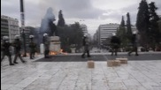 Greece: Police clash with protesters at Athens anti-austerity demo