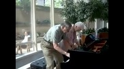 Elderly Couple of 62 Years plays piano