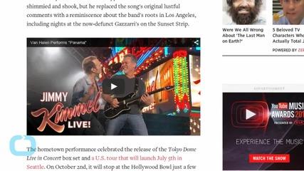 Bloodied Van Halen Play Wild, Reckless Set on 'Jimmy Kimmel Live'
