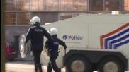 Belgium: 'Hooligans' taste water cannon after Brussels memorial upset