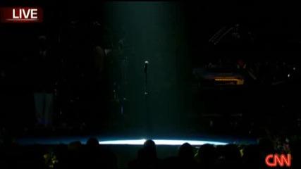 Изкарването на ковчега на Майкъл Джексън ( 7.7.2009г)
