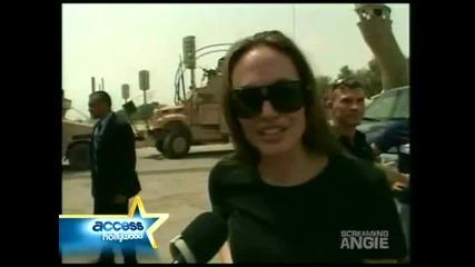 Анджелина Джоли посещава Ирак