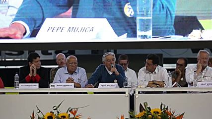 Colombia: Former Uruguayan Pres. Mujica discusses FARC peace talks in Medellin