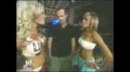 WWE - Ashley Massaro и Kristal-спречкване
