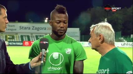 Жуниор Мапуку стана играч на мача Берое - Пирин