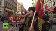 Italy: Hundreds march through Rome at pro-Kurdistan rally