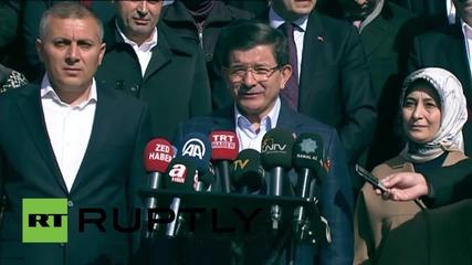 Turkey: PM Davutoglu casts vote in general election