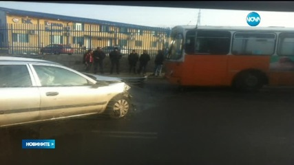 Катастрофа предизвика задръстване на столичния бул.