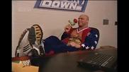 Kurt Angle, Stephanie Mcmahon & Brock Lesnar Backstage | Wwe Smackdown 13.2.2003