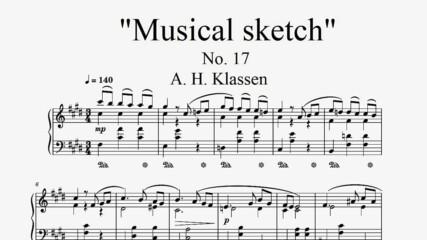"""""""Musical Sketch"""" No. 17 - A. H. Klassen"""