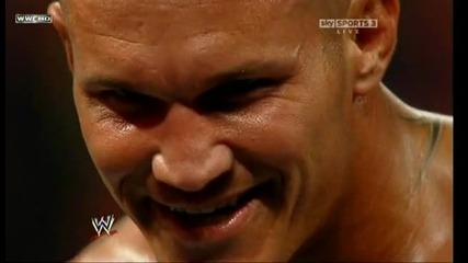 Wwe Raw 27.09.2010 Randy Orton kick Jerico
