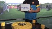 Футболистите на Барселона проговориха на китайски