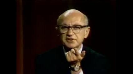 Милтън Фридман спори с млад социалист