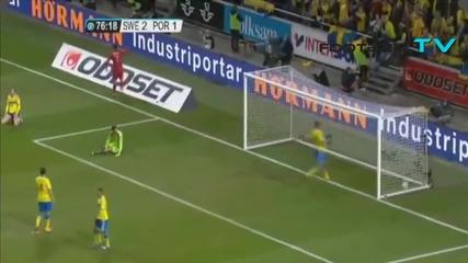 Луд Коментатор! Хеттрик на Кристиано Роналдо * Швеция - Португалия 2:3 ( 19.11.13 )