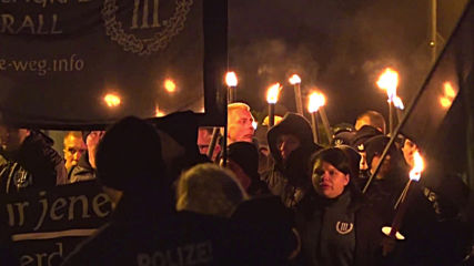 Germany: Neo-Nazis march through Wunsiedel in torchlit procession