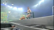 Sheamus Powerbombs Sin Cara into a Ladder