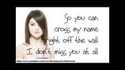 New! Selena Gomez and The Scene - I Dont Miss You At All + Lyrics