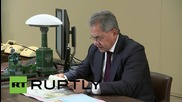 Russia: Russian navy joins fight against ISIS - DM Shoigu tells Putin